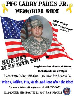 Pfc Larry Parks Jr Memorial Ride Rennug Local Events [ help keep the dogs running! events rennug